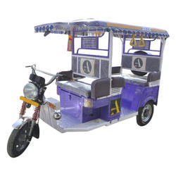 Purple Passenger Electric Rickshaw