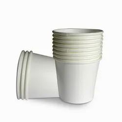 Plain White Paper Disposable Coffee Cup, Capacity: 100mL