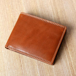Hawai Dual Color Combination Brown Mens RFID Blocking Wallet