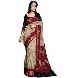 Pradeep Fashion Bhagalpuri Printed Sarees, 6.3 m (With Blouse Piece