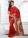 Red Womens Silk Saree