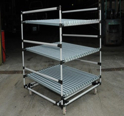 WIPL Heavy Duty Steel Pipe Rack With Caster Wheels