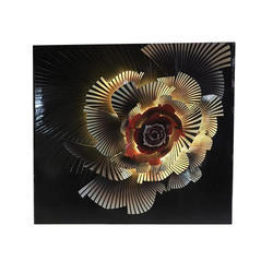 Pu Floral Colourful 3D Wall Art with light
