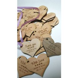 Heart Shaped Wooden Ornament