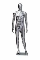 Chrome Finish Male Mannequin