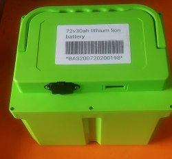 72v30ah Lithium Lion Battery
