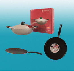 Grey Swarna Cookware 3pc Set For Cooking