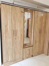 Standard Prelaminared Engineered Wood Wooden Wardrobe