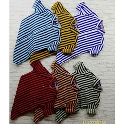 Cotton Collar Neck Mens Striped Casual Shirt