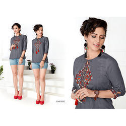 RAYON SHORT Designer Kurti, Machine wash