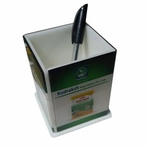 White Acrylic Pen Holder, For Office