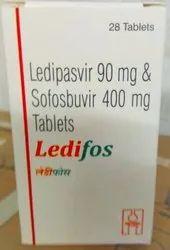 Ledipasvir 90 mg and Sofosbuvir 400 mg Tablets
