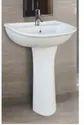 Mozio Italian Ceramic Franco Pedestal Basin, For Home, Model Name/number: F3410