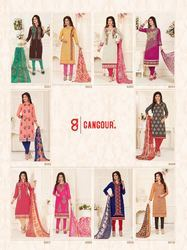 Chanderi Churidar Suit