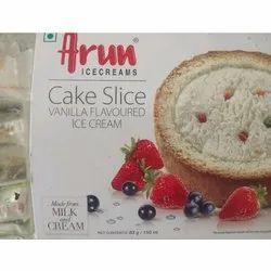 Flavours: Vanilla Arun Ice Cream Cake Slice, Packaging Size: 150 Ml