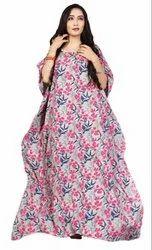 Floral Printed Long Women Cotton Kaftans