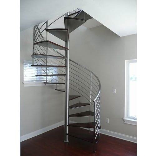 Silver SS Spiral Staircase Railing