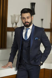 Amador Blue Mens 5 Piece Suit
