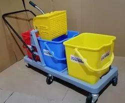 Plastic Three Bucket Wringer Trolleys