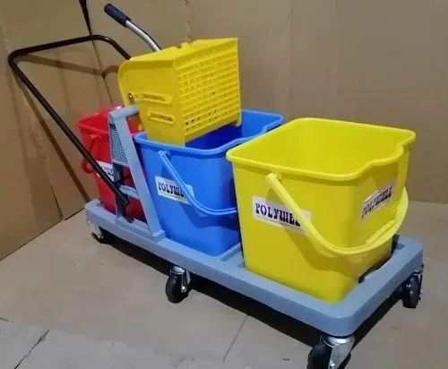 Three Bucket Wringer Trolleys