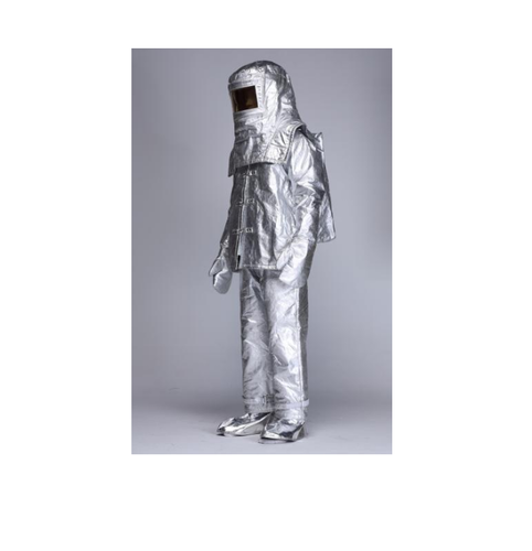 Medium And Large Silver Flame Retardant Aluminised Suit