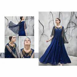 Designer Blue Long Gown