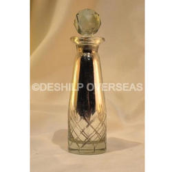 Tall Mercury Glass Perfume Bottle