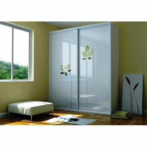 White Lacquered Glass, For Wardrobes