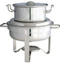 Silver Stainless Steel Round Soup Station