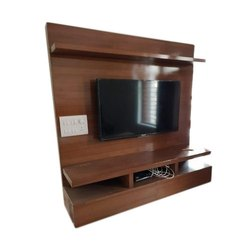 Brown Wall Mounted Designer Wooden TV Cabinet, Warranty: 1 Year, for Home