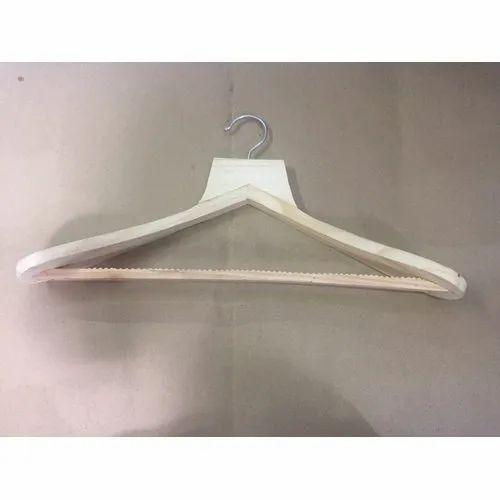 Polished Wooden Coat Hanger