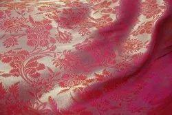Stitch Silk Jacquard Fabric Black