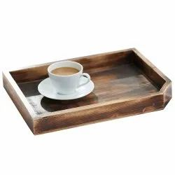 Wooden Tray Food Fruit Breakfast Serving Plate Food Storage Tray