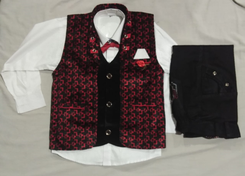 Boys Red Baba Suit