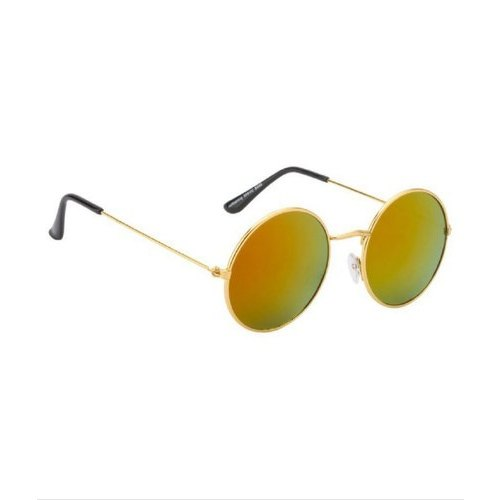 Color Sunglasses Red Golden Round Multi Lens Frame IE29HD