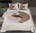 Pure Cotton Block Print Double Bedsheet With Two Pillow Covers