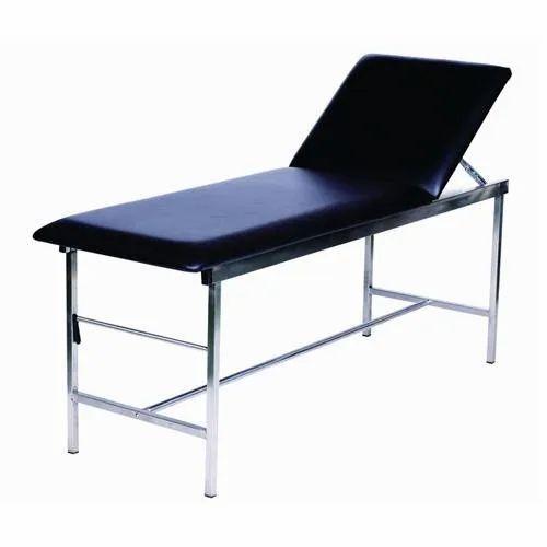 Mild Steel Clinic Examination Table, Size: 7 X 3feet