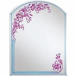Nutan Designer Side Printed Glass Mirror