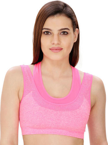 7fc40753b7376 88% Nylon   12% Spandex Pink Color Women  s Sport Bra
