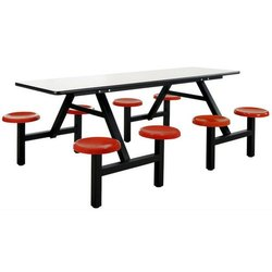 Sunny Overseas Stainless Steel Rectangular Canteen Table, Seating Capacity: 8 Seater
