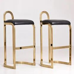 Black and Golden Stainless Steel Iron Fancy Chair