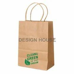 Brown Kraft Paper Carry Bag, For Shopping, Capacity: 1.5 kg