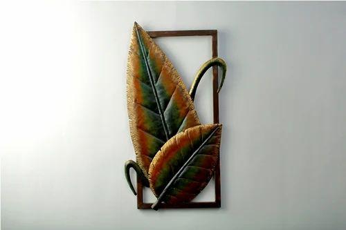 18 33 Metal Banana Leaf Wall Decor