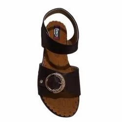 Lycra And PVC Casual Wear Ladies Velcro Sandal, Size: 6-11