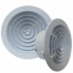 Plastic Powder Coated Ceiling Air Diffuser, For Industrial Purpose, Shape: Circular/Round