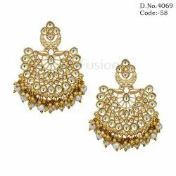 Traditional Indian Wedding Kundan Earring