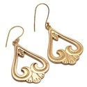 Coptil Indianan Jewellers Present Favorite Style Womens Choice Blonde Gold Plated Brass Earring
