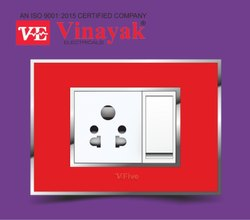 Electrical Switch Plate Spicy Red