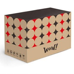 Cardboard Rectangular Printed Corrugated Shipping Boxes, Weight Holding Capacity (Kg): 5 - 10 Kg