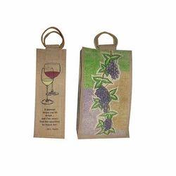 Jute Wine Bottle Gift Bags
